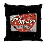 Grill Master Retro Throw Pillow