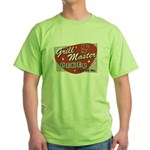 Grill Master Retro Green T-Shirt