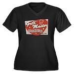 Grill Master Retro Women's Plus Size V-Neck Dark T
