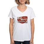 Grill Master Retro Women's V-Neck T-Shirt