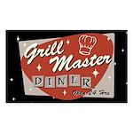 Grill Master Retro Sticker (Rectangle 50 pk)