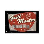 Grill Master Retro Rectangle Magnet