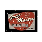 Grill Master Retro Rectangle Magnet (10 pack)