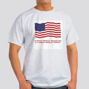 A Nation Without Immigrants... Ash Grey T-Shirt