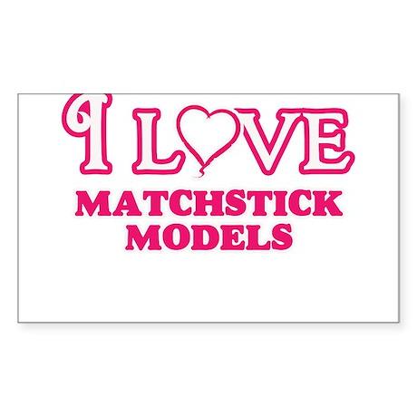 I Love Matchstick Models Sticker