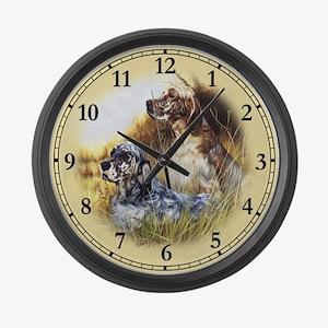 English Setter Large Wall Clock