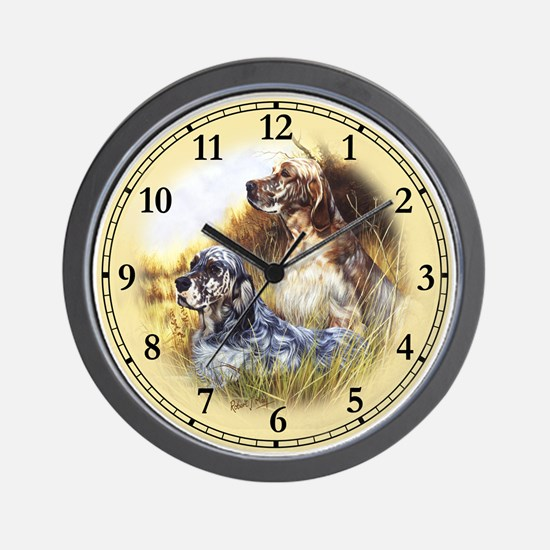 English Setter Wall Clock