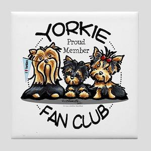 Yorkie Lover Tile Coaster