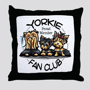 Yorkie Lover Throw Pillow