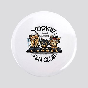 "Yorkie Lover 3.5"" Button"