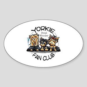 Yorkie Lover Sticker (Oval)