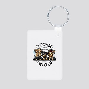 Yorkie Lover Aluminum Photo Keychain