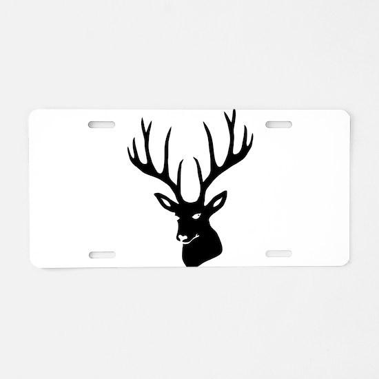 Unique Antlers Aluminum License Plate