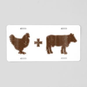 Brown Chicken Brown Cow Aluminum License Plate