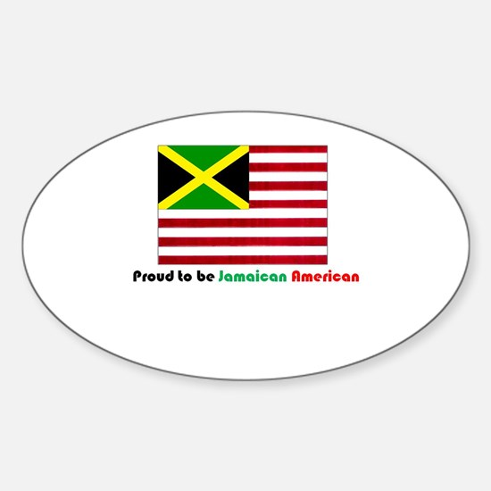 Jamaican American Sticker (Oval)