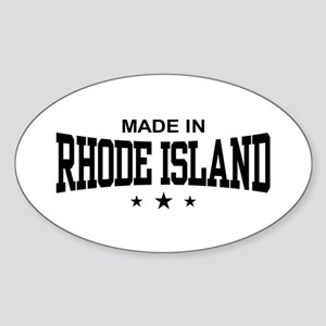 Made In Rhode Island Sticker (Oval)