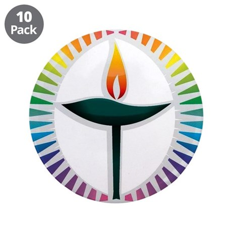 "UU Rainbow Logo 3.5"" Button (10 pack)"
