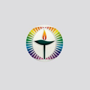UU Rainbow Logo Mini Button