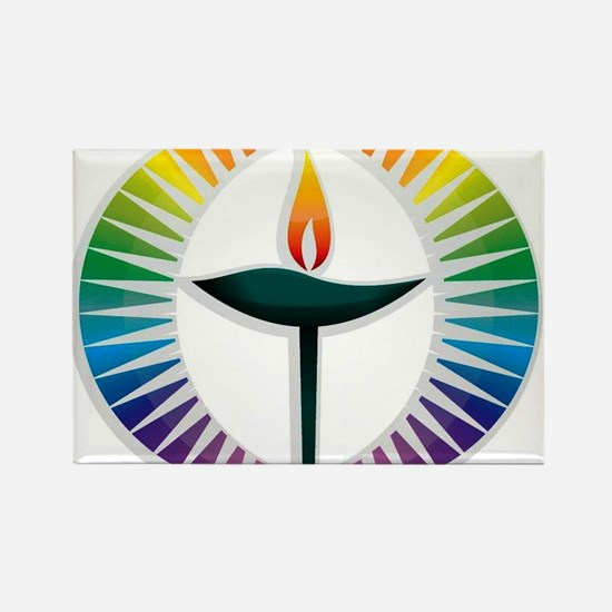 UU Rainbow Logo Rectangle Magnet