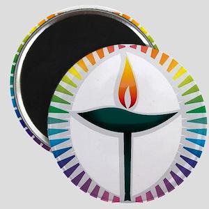UU Rainbow Logo Magnet