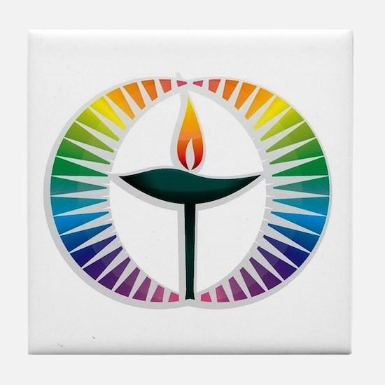 UU Rainbow Logo Tile Coaster