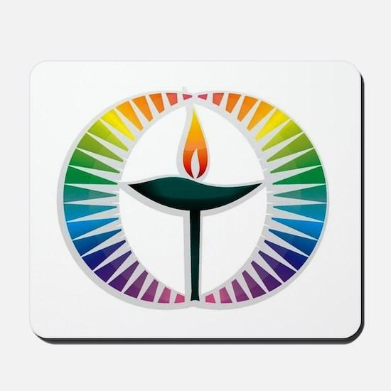 UU Rainbow Logo Mousepad