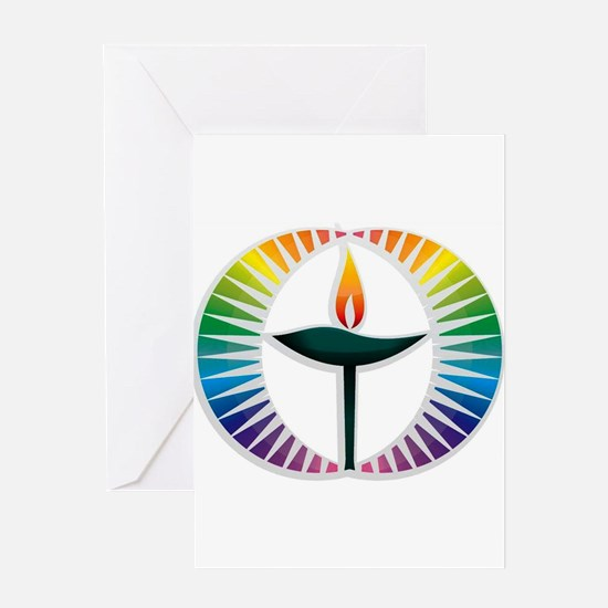 UU Rainbow Logo Greeting Card