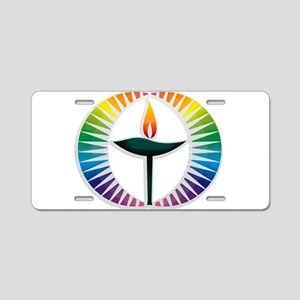 UU Rainbow Logo Aluminum License Plate