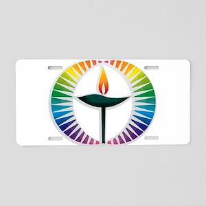 UU Rainbow Logo Aluminum License Plate