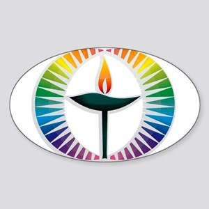 UU Rainbow Logo Sticker (Oval)