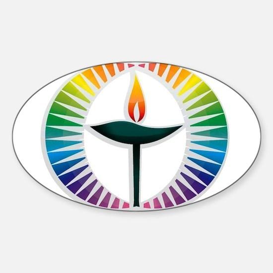 UU Rainbow Logo Sticker (Oval)