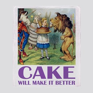 CAKE WILL MAKE IT BETTER Throw Blanket
