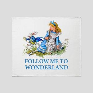 FOLLOW ME TO WONDERLAND Throw Blanket