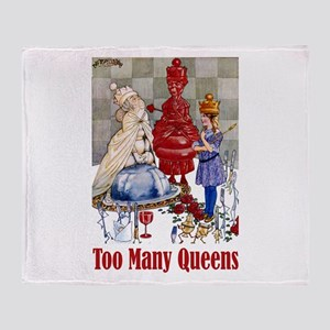 ALICE: TOO MANY QUEENS Throw Blanket