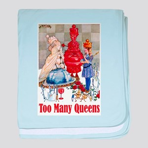 ALICE: TOO MANY QUEENS baby blanket