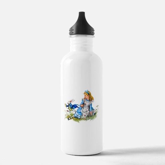ALICE & THE RABBIT Water Bottle