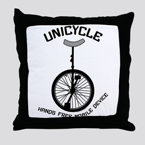 Unicycle Mobile Device Throw Pillow
