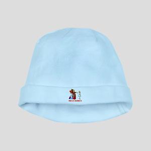 WHO LET BLONDIE IN baby hat