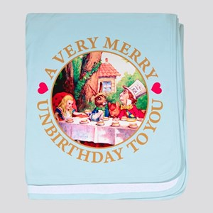 A VERY MERRY UNBIRTHDAY baby blanket