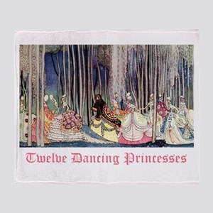 Twelve Dancing Princesses Throw Blanket
