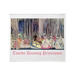 Twelve Dancing Princesses Throw Blanket