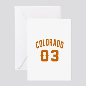Colorado 03 Birthday Designs Greeting Card