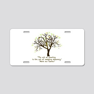 The Art Of Teaching Aluminum License Plate