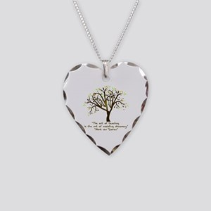 The Art Of Teaching Necklace Heart Charm