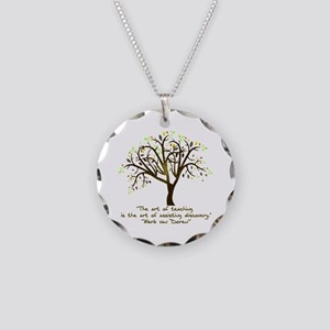 The Art Of Teaching Necklace Circle Charm
