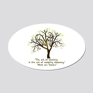 The Art Of Teaching 20x12 Oval Wall Decal