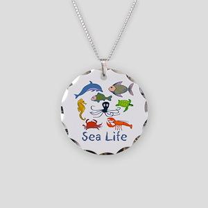 Sea Life Necklace Circle Charm