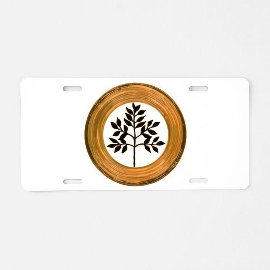Eternal Growth Aluminum License Plate