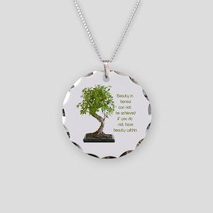 Bonsai Beauty Necklace Circle Charm