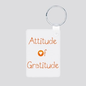 Attitude of Gratitude Aluminum Photo Keychain